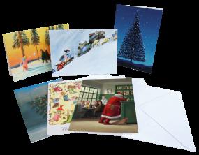Weihnachten-Klappkarten-Set