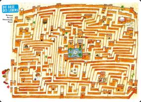 """Labyrinth-Tischset """"Die Oase des Lebens"""""""