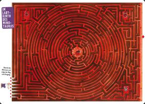 """Labyrinth-Tischset """"Im Labyrinth des Minotaurus"""""""