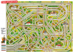 """Labyrinth-Tischset """"Chaos am Bahnsteig"""""""