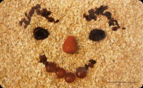 Frühstücksbrettchen Gesicht