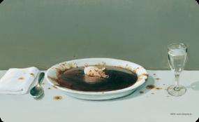 Frühstücksbrettchen Suppenschwein