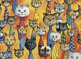 Katzen-Krawatten