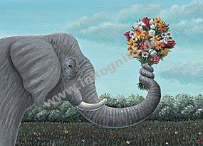 KD Elefant/Blumen