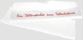 """Geschirrtuch """"Vom Tellerwäscher zum Tellertrockner"""""""