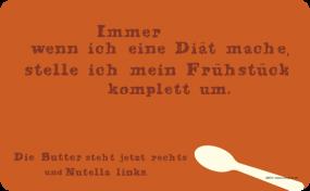 Frühstücksbrettchen Nutella