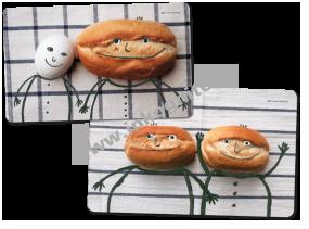 Frühstücksbrettchen-Paket Ei & Brötchen