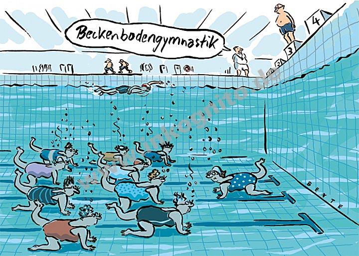 Beckenbodengymnastik | Satire | nach Themen | Postkarten ...