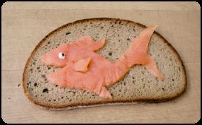 Frühstücksbrettchen Lachs