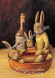 Hasenrücken in Rotwein