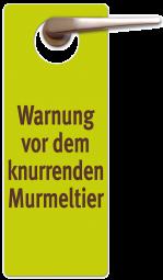 Warnung vor dem Murmeltier