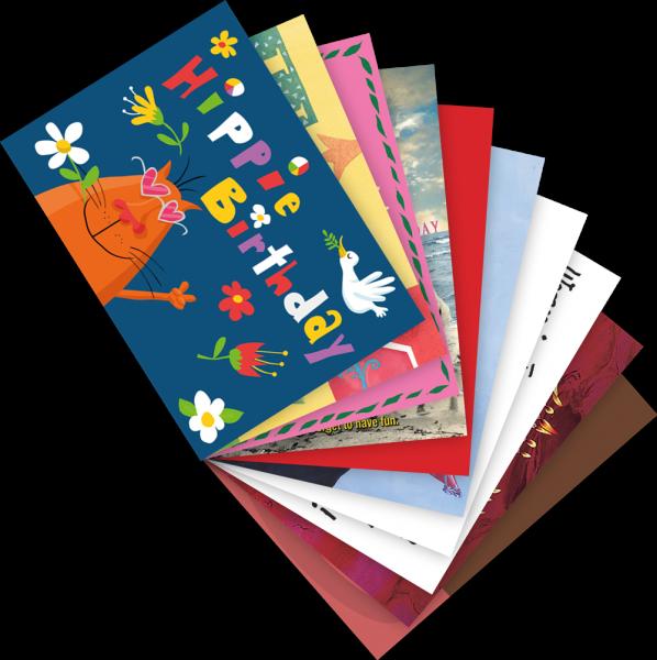Postkarten Set Geburtstag Im Set Postkarten Inkognito