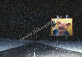 Billboard im Schnee