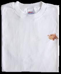 "Weißes T-Shirt mit ""Autobahnsau"", XL"