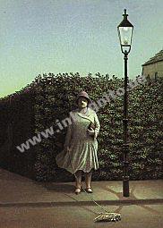 Frau mit Motte