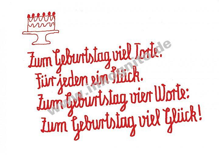 Zum Geburtstag Torte Text Nach Themen Postkarten Inkognito