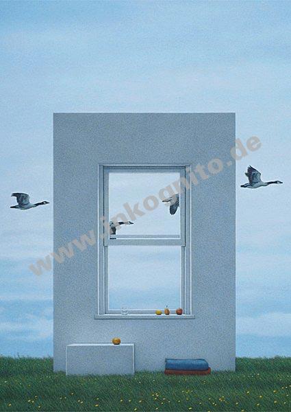 Fenster und g nse postcards englisch inkognito for Fenster englisch