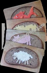Frühstücksbrettchen-Paket Tierbrote