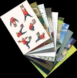 """Postkarten-Set """"Bücherwelt"""""""