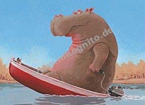 Nilpferd im Boot