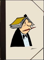Edel-Mappe/Mann mit Buch