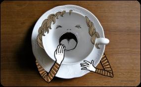 """Frühstücksbrettchen """"Some more coffee"""""""