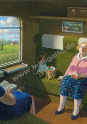 Osterhase im Zug