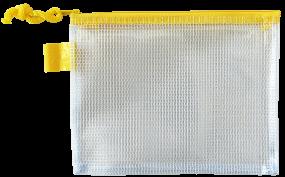 Transparenter Reißverschlussbeutel in 4 Farben, groß