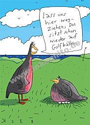 Auf Golfbällen