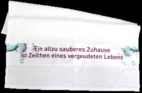 "Geschirrtuch ""Sauberes Zuhause"""