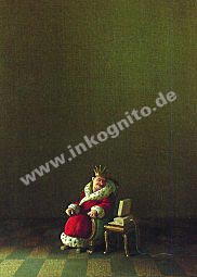 """Poster """"König (mit Laptop)"""""""