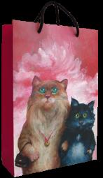 Tragetasche Katzenpaar
