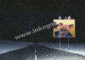 KD Billboard im Schnee