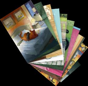 """Postkarten-Set """"Katzen 2"""""""