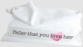 "Geschirrtuch ""Teller that you love her"""